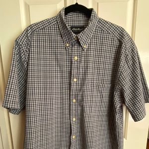 Eddie Bauer Men's Size M Short Sleeve Plaid Oxford